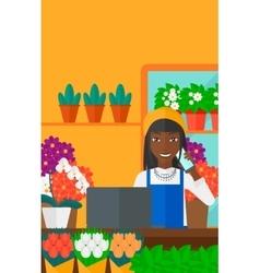 Florist taking order vector