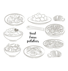 Food from potatoes vector