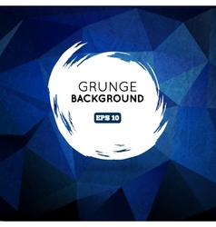 Grunge blue background with splash banner vector image