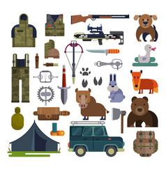 hunt hunting ammunition or hunters vector image vector image