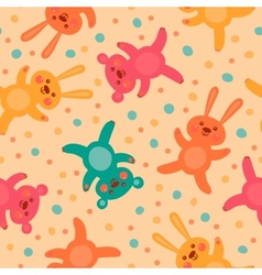 Kids seamless pattern with cute bears and hares vector image vector image