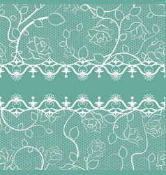 Lace seamless pattern with pearls vector