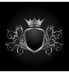 luxury vintage aluminium frame template - vector image vector image
