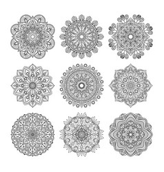 meditation pattern of indian vector image vector image