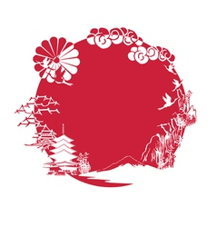 miniature symbolizing Japan vector image