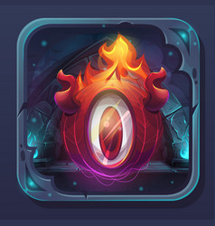 Monster battle gui icon eldiablo flame vector
