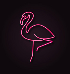 Neon flamingo vector