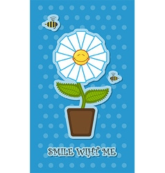 Pot flower vector image