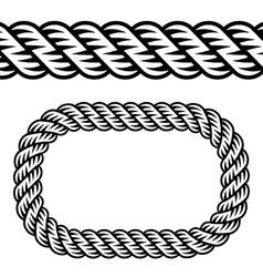 Seamless black rope symbol vector