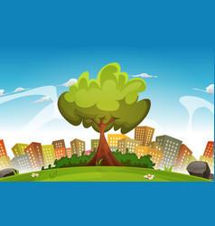 spring city landscape vector image