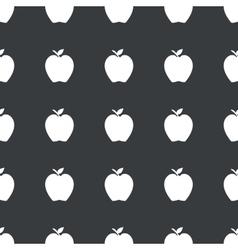 Straight black apple pattern vector