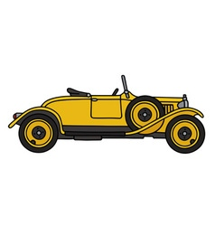 Vintage yellow roadster vector image