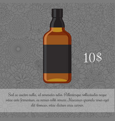 Whiskey alcoholic beverage card template vector