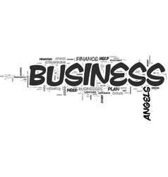 who are business angels text word cloud concept vector image vector image