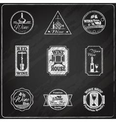 Wine label chalkboard vector