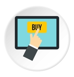 E-commerce icon flat style vector image