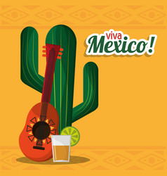 Viva mexico party celebration image vector
