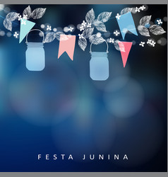 Brazilian june party festa junina string of vector