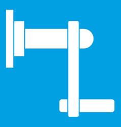 Twist tool icon white vector