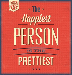 Vintage quote typographic background vector