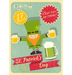 Patricks day retro card vector