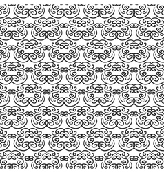Elegant oriental black and white pattern vector
