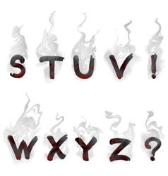English smoking alphabet vector