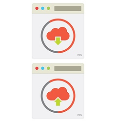 Cloud download and upload 10 vector