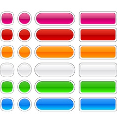 Modern web buttons vector
