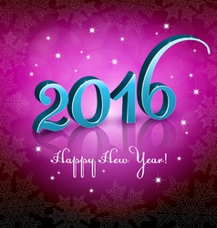 New year 2016 pink background vector