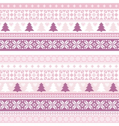 Decorative seamless background christmas handmade vector