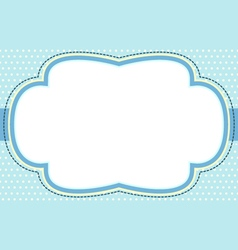 Ornate blue bubble frame vector
