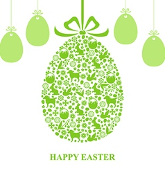 Easter decor hang vector