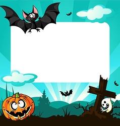 Halloween frame - vector