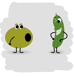 Doodle cucumber will soon be in the olive with a vector