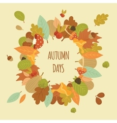 Cartoon nature autumn frame vector