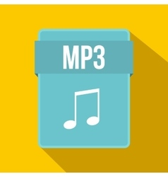 Mp3 file icon flat style vector