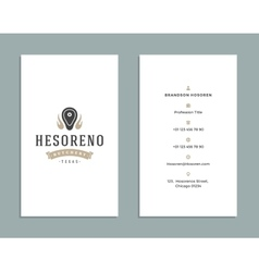 Business card design and retro style template vector