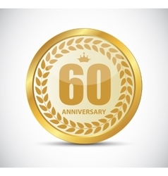 Template logo 60 years anniversary vector