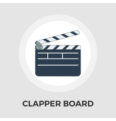 Director clapperboard flat icon vector