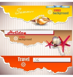 Summer holiday banners vector