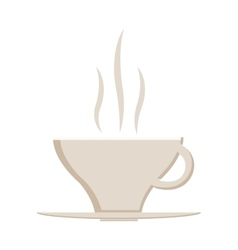 Hot coffee cup icon vector