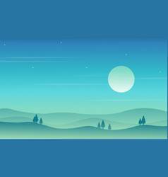 Background game style with hill vector