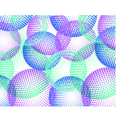 background with colorful halftone circle vector image vector image