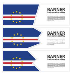 Cape verde flag banners collection independence vector