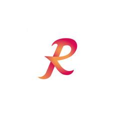 creative logo icon typography big letter r vector image