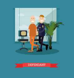 Defendant in flat style vector