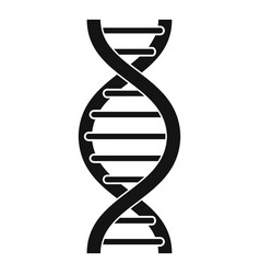 Dna spiral icon simple style vector