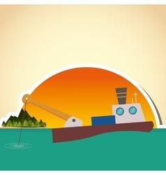 Fishing boat design sea concept sport vector