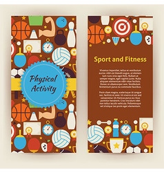 Flyer Template of Flat Sport and Fitness Objects vector image vector image